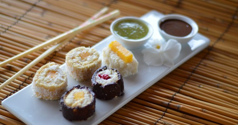 [about food memories and a bit different dessert] Dessert Sushi