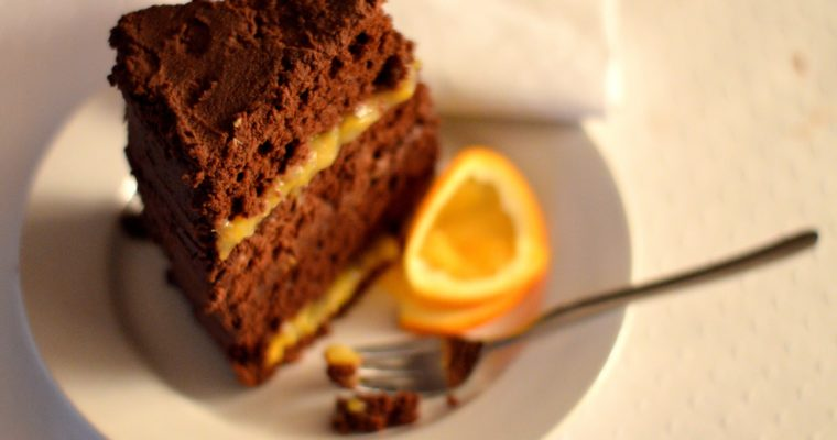 [Who says you need an occasion for a fancy cake?] Orange praliné Whiskey cake