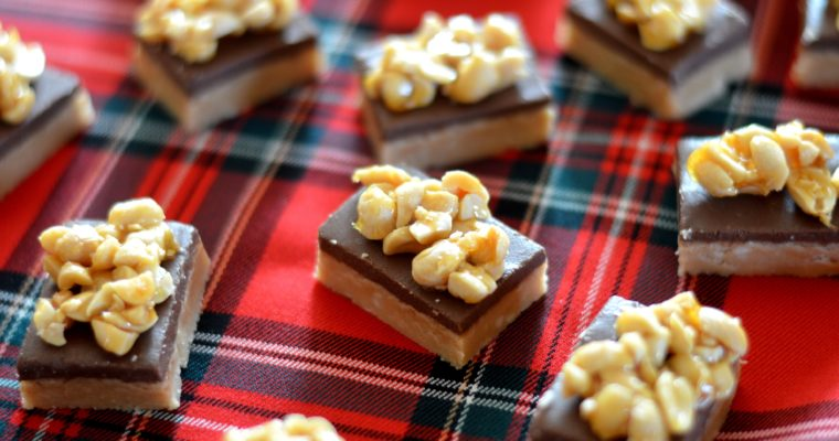 [Scotland vibes] Peanut Butter Fudge topped with caramelized salted peanuts