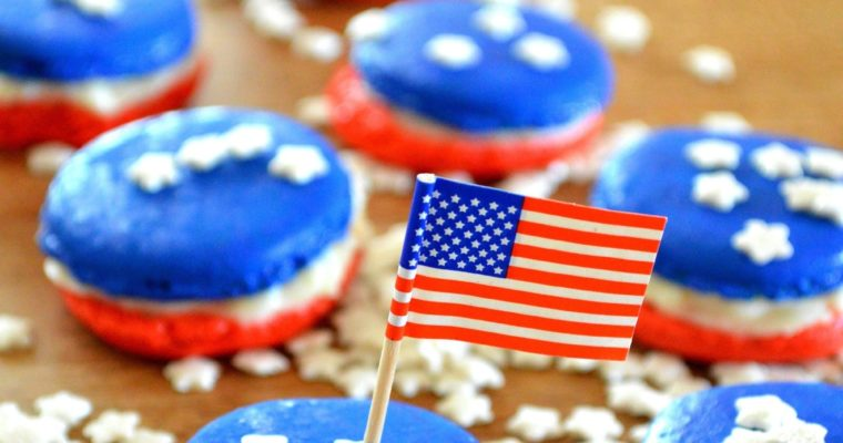 [4th of July preview] USA Macarons with lemon mascarpone filling